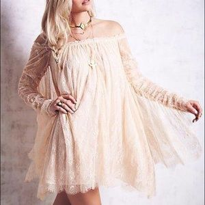 Free People Off the shoulder Trapeze Dress